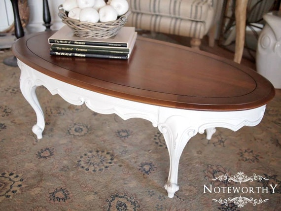 French Country White Coffee Table By Noteworthyhome On Etsy