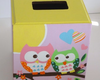 Owl Tissue Box Holder Owl Bathroom Tissue Box Wood Tissue Holder Owl