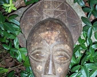 Mask Wooden Tribal Decor Hand Carved by AntiquesandVaria