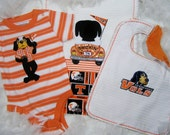 """Tennessee """"Smokie"""" 3Piece Baby/Shower Gift Set : Onesie, Burpee, and Bib for Baby Boys by FairyTale Frocks"""