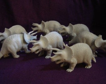 vintage Tootsie Toy dinosaurs Triceratops hollow plastic mighty monsters