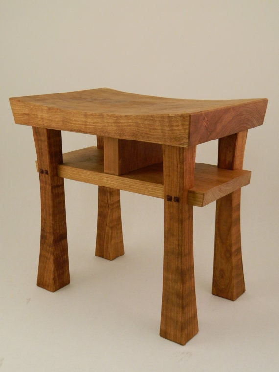 Items Similar To Asian Style Stool Bench Size Small Made To Order Maple Oak Cherry Walnut