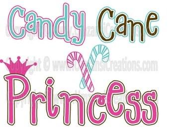 "DIY Printable ""Candy Cane Princess"" Iron On Transfer (PNG Digital Image)"