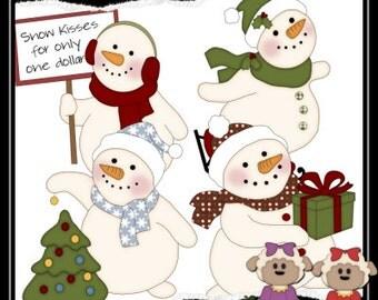 Jolly Snowman Fun 1 Clipart (Digital Download)
