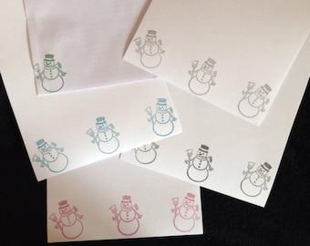 Snowman Letter Writing Set