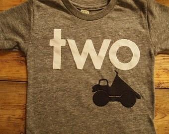Construction birthday shirt, Truck shirt, bulldozer dump truck truck theme birthday party boys birthday shirt construction black  white grey