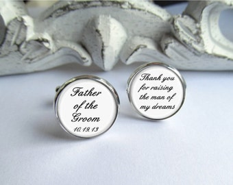 Father Of The Groom Cufflinks, Custom Wedding Cufflinks