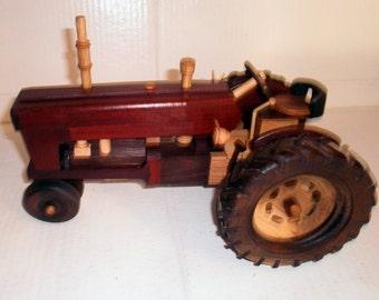 IH Wooden Tractor Handcrafted