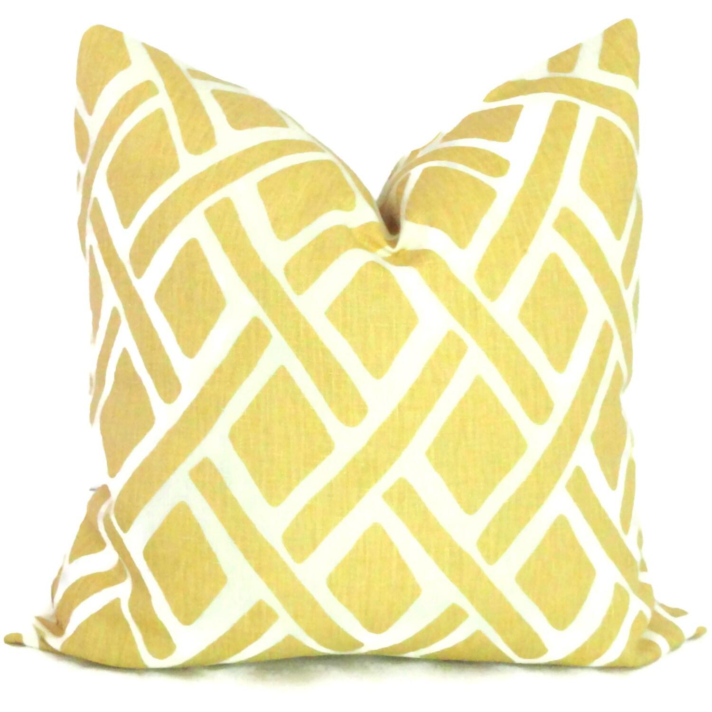 Kravet Yellow Trellis Decorative Pillow Cover 18x18 20x20