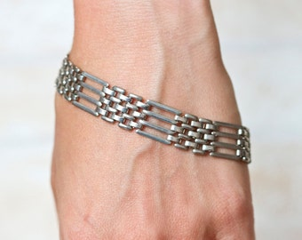 Wide Chain Bracelet - Eighties Fashion