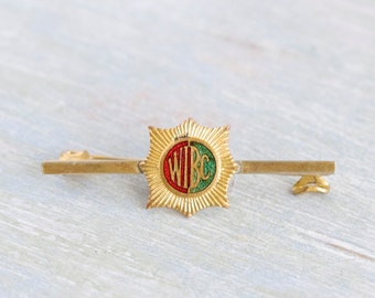 Antique WIBC Tie Pin - Enamel Bar Brooch