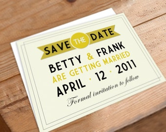 Wedding Save the Date Digital File Art Deco Gold Elegant Invitation