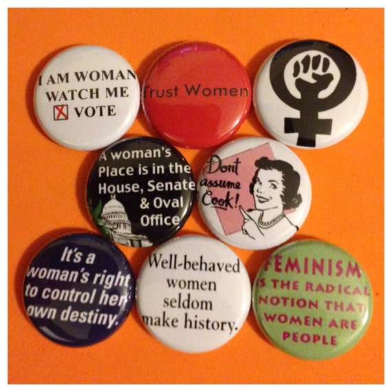 "8 Brand New 1"" ""Women's Rights"" Button Set"