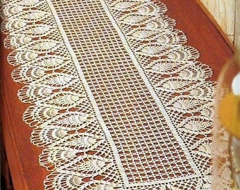 crochet doily, center piece ,table runner   PATTERN (chart with instructions)