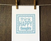 "Trendography Prints ""Think Happy Thoughts"" 8x10 Art Print"