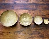 ZEN NEST - set of 4 nesting bowls in Milk + Honey