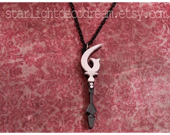 MADE to ORDER Sailor Saturn Silence Glaive Acrylic and Swarovski Crystal Necklace Sailor Moon Inspired for Mahou Kei & Magical Girl Fashion