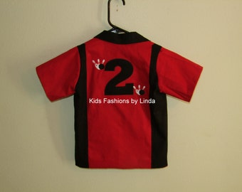 Red/Black  Birthday Bowling Shirt