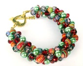 Colorful Handmade Beadwork Bracelet