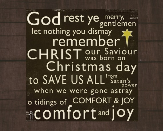 15 Christmas Quotes Religious: Items Similar To God Rest Ye Merry Gentlemen... Printable