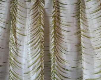 """Silky 1940s Curtains, Hollywood, Mint Condition, 26"""" at top x 42"""" at bottom x45"""" long"""