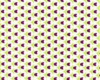 SALE - Folk Modern - Tulip Purple - JG-41600-4C by Ellen Luckett Baker from Kokka Fabrics