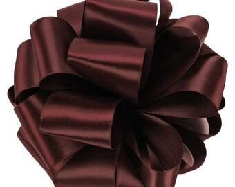 "Satin Ribbon, 1 1/2"" , Double Face  Burgundy - THREE YARDS - Offray No. 9 ""Burgundy #277"" Double Sided Wedding Satin Ribbon, Sewing Trim"