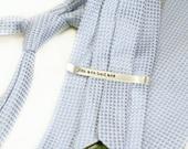 Hidden Message Tie Bar - Hand Stamped Tie Bar - Custom Tie Clip - Personalized Tie Bar - Secret Message - Tie Tack