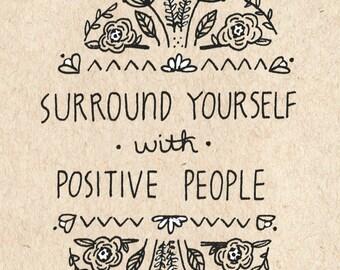 Positive People - 8x10 Art Print