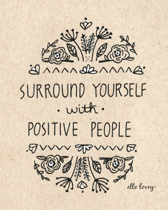 Positive People - 8x10 Art Print