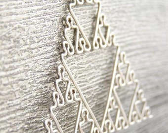 Glow in the Dark Sierpinski Triangle Fractal Necklace