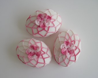 Soap in Crochet Covers - Set of 3 - Shades of Pink