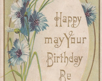 Vintage Birthday Postcard - Unused (L)