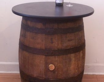 Whiskey Barrel Table-FREE SHIPPING
