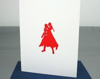 Thor Avengers Superhero Letterpress Card