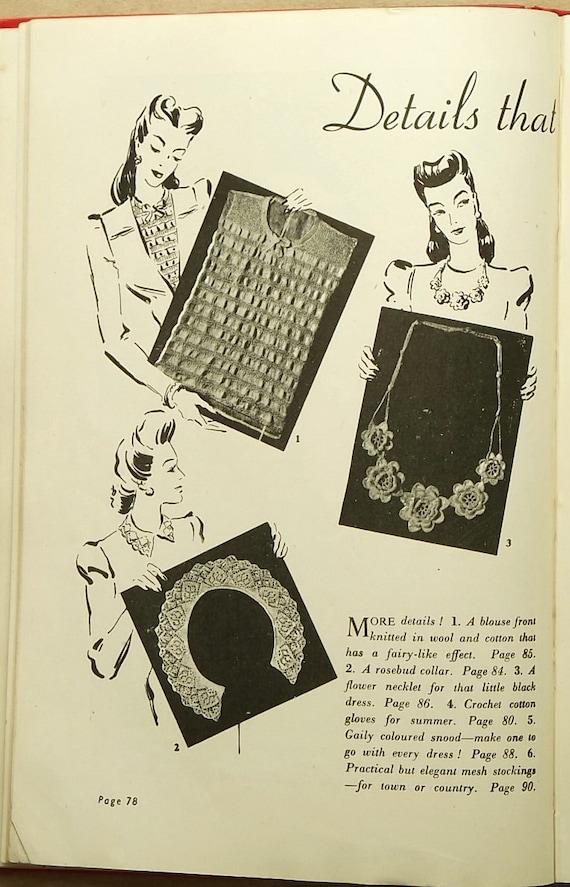 Modern Knitting Pattern Books : 1940s knitting book Modern Knitting Illustrated knitting patterns book from E...