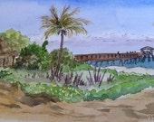 Pompano Beach Fishing Pier Original Painting