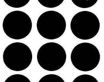 25 (1-inch) Round/Circle Chalkboard Vinyl Labels