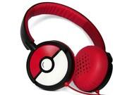 Poke-phones Headphones earphones white red hand painted