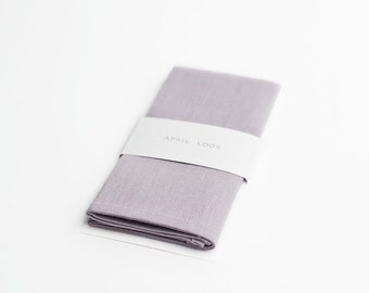 Lilac pocket square, handkerchief, provence