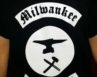 Men's Milwaukee Blacksmith logo tshirts!