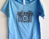 Women's t-shirt with camera tshirt holga T-shirt