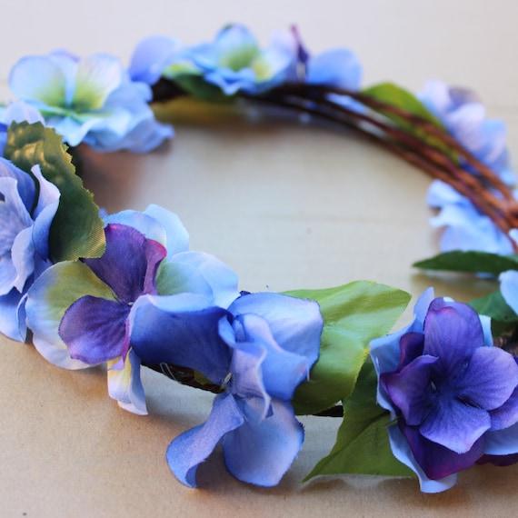 Flower Crown Purple: Blue And Purple Floral Crown