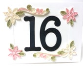 Table Numbers Wedding Decor - Assorted Colors - Made to Order - Blush Pink Rose Gold