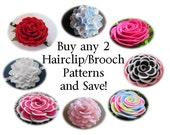 Felt Flower Brooch Patterns Felt Flower Hairclip Patterns - Buy Any 2 Felt Brooch Hairclip Headband Flower Patterns and SAVE