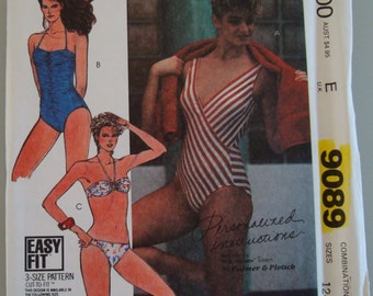 Vintage McCall's Womens Sewing Pattern 9089 size 12-16   Uncut