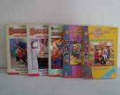 The Baby Sitters Club - Girls Books - Set Of 5 - Ann M Martin - Little Sister - Scholastic - 1990s - Stacey - Mary Anne - Karen - Kristy -