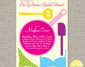 pots and panties bridal shower invitation - DIY printable file by YellowBrickStudio