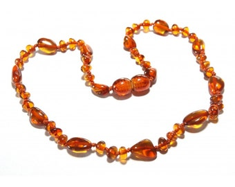 Baltic Amber Teething Necklace - Honey Variety  - Made in Canada