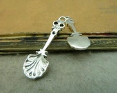 30pcs 10x35mm The Spoon Silver White Color Charm For Jewelry Pendant C4952